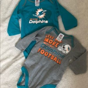 NFL Miami Dolphins Infant long sleeve onesies
